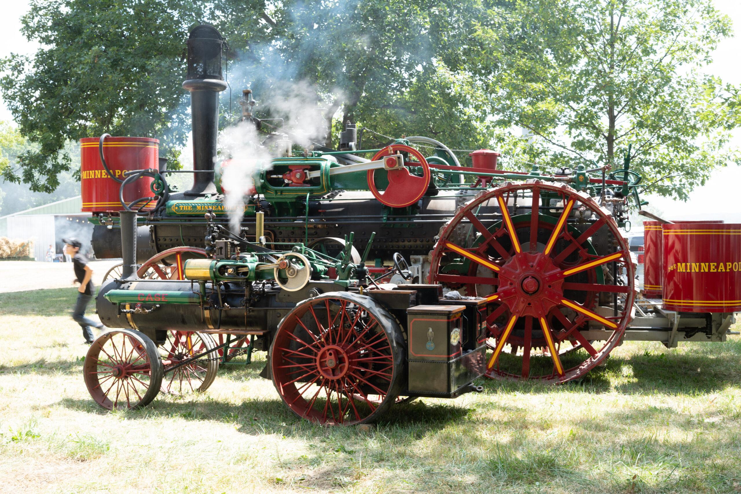 Minneapolis Steam Engine and a Half Scale Case Steam Engine