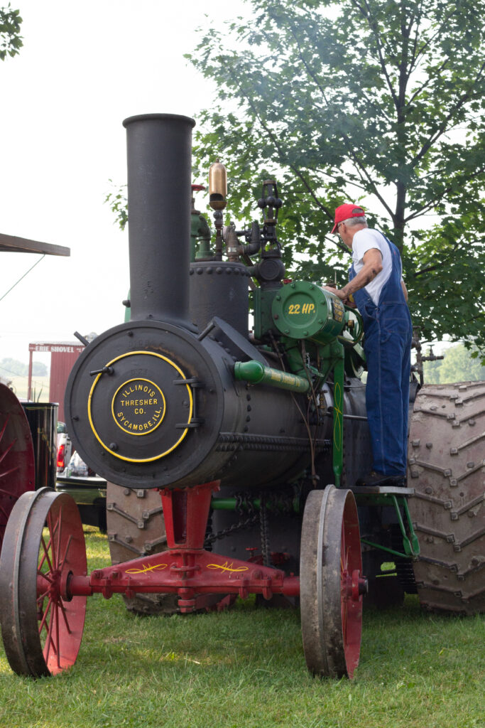 Illinois Threshing Company Engine owned by Northern Illinois Steam Power Club