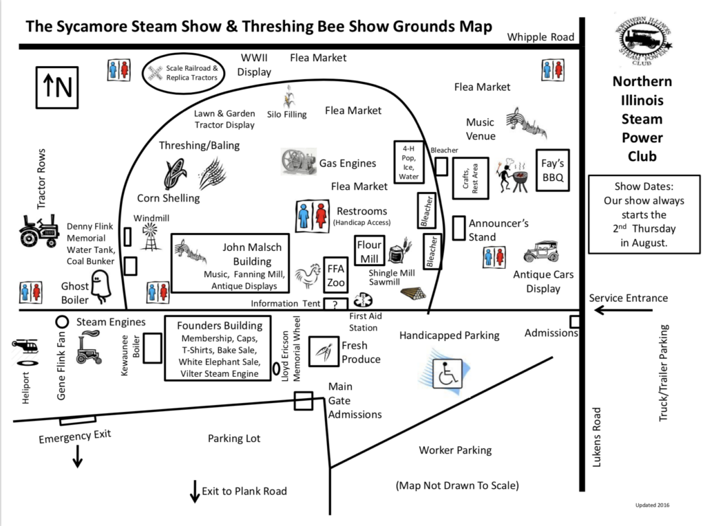 Sycamore Steam Show Map